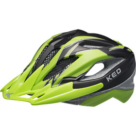 KED Street Pro Helmet Junior Black Green Matt